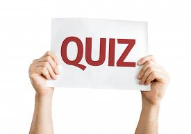 image of quiz  - Quiz card isolated on white background - JPG