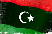 stock photo of libya  - The flag of the African country of Libya - JPG