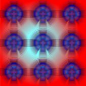stock photo of psychedelic  - 60S Psychedelic modern blur and transparent patterns - JPG