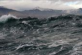 pic of sakhalin  - a storm at sea near the island of Sakhalin - JPG
