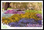 Austrália - por volta de 2007: Cancelado australiano selo representando Reis Parque jardim botânico por