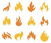 foto of flame  - A collection of flames and fire icons and symbols - JPG
