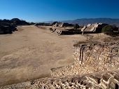 The Ancient Zapotec City Of Monte Alban In Mexico