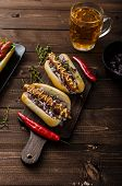foto of wiener dog  - All beef dogs variations nice hot dogs with beer differend sizes and delicious flavour - JPG