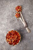 pic of chillies  - Extreme hot asian chillies garlic sauce  - JPG