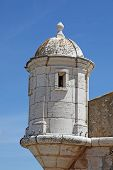 stock photo of lagos  - One of the turrets of the Forte da Bandeira Lagos Portugal - JPG