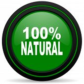 foto of 100 percent  - natural green icon 100 percent natural sign
