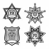 pic of police  - Police badges set - JPG