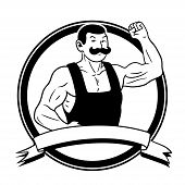 foto of strongman  - This is the illustration of an old - JPG