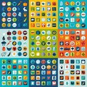 stock photo of exposition  - Set of agriculture icons for Web and Mobile Applications - JPG