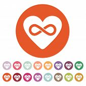 stock photo of infinity symbol  - The heart and infinity icon - JPG