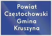 stock photo of municipal  - County Border Sign In Poland - JPG