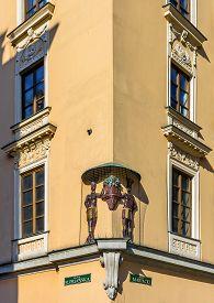 pic of tenement  - Sub Aethiopibus Tenement in the Main Market Square in Krakow Poland - JPG