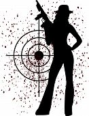 foto of girls guns  - An image of woman in eps format - JPG