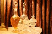 Antique Crystal Liquor Bottles