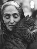 Old Woman With Cat