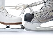 Ice Skates Tied Against Each Other