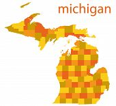 michigan state vector map