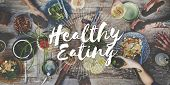 Healthy Eating Healthy Food Nutrition Organic Wellness Concept poster