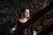 picture of 1700s  - a renaissance portrait of a beauty girl in medieval Tallinn - JPG