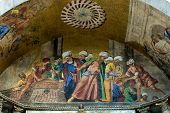 Buntes Mosaik, Markusdom, Venedig, Italien