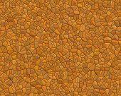 Stone Wall Pattern Small Orange