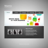 Website design template. Vector.