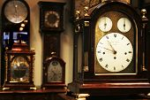 Many different old clocks