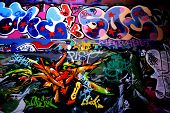 crazy graffiti with so much colour