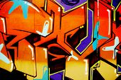 Colorful, Vibrant, Illegal Graffiti Tag in Brighton
