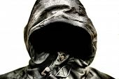 Scary Hood isolated on White background