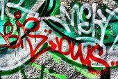 Harsh graffiti image