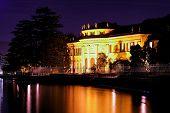 Lakeside Mansion At Night
