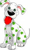 Cute Smiling St. Patrick's Day Dog