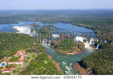Helicopter View From Iguazu Falls
