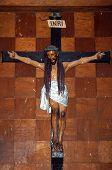 Crucifix Inside Baclayon Church Bohol Philippines