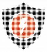 Electric Guard Halftone Vector Icon. Illustration Style Is Dotted Iconic Electric Guard Icon Symbol  poster