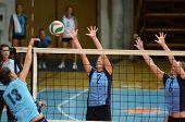 Kaposvar, Ungarn September 11: Zsanett Pinter (2) bei der ungarischen nb i. Liga Volleyb