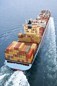 stock photo of nautical equipment  - Container Ship - JPG