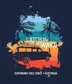 Summer Surf Vacation In Australian Gold Coast poster