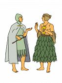 picture of babylon  - Chat between two men with exotic clothes - JPG