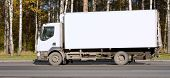 Blank White Delivery Van Truck Deliver Goods Of My