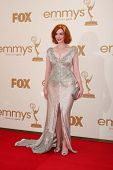 LOS ANGELES - SEP 18:  Christina Hendricks arriving at the 63rd Primetime Emmy Awards at Nokia Theat