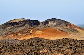 A view of Pico Viejo volcano, the second elevation in Spain, in Teide National Park, in Tenerife