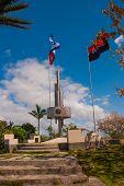 Santa Clara, Cuba: Monument Of The Lomo Del Capiro In Santa Clara. Attraction On The Hill Of The Cit poster