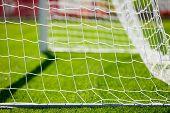 Net Of A Soccer Goal. Soccer Or Football Goal Net poster