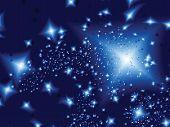 Stars In The Night. Vector Illustration