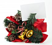Christmas Decoration With Blank Gift Tag 1