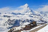 Matterhorn Peak, Located At Switzerland