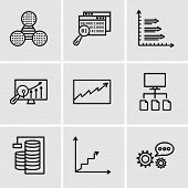 Set Of 9 Simple Editable Icons Such As 3d Data Analytics, Data Analytics Ascending, Database Analysi poster